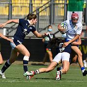 Parma 13/09/2021, Stadio S.Lanfranchi<br /> Qualificazioni Mondiali 2022<br /> Scozia vs Italia femminile<br /> Vittoria Ostuni Minuzzi placcata da Chloe Rollie