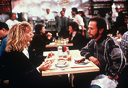 1989, Film Title: WHEN HARRY MET SALLY, Director: ROB REINER, Pictured: BILLY CRYSTAL, ROB REINER, RESTAURANT, RESTAURANT BOOTH. (Credit Image: SNAP/ZUMAPRESS.com) (Credit Image: © SNAP/Entertainment Pictures/ZUMAPRESS.com)