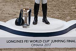 Podium, Ward McLain, USA, Duguet Romain, SUI, Von Eckermann Henrik, SUI<br /> Longines FEI World Cup Jumping Final III, Omaha 2017 <br /> © Hippo Foto - Dirk Caremans<br /> 02/04/2017