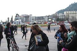 September 1, 2017 - Santiago, Region Metropolitana, Chile - Women protest in Santiado de Chile after the rape and murder of Andrea Mazzo a 15-years-old girl, on September 1, 2017. (Credit Image: © Pablo Rojas Madariaga/NurPhoto via ZUMA Press)