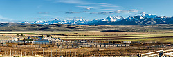 A little piece of Heaven, this cattle ranch is on the Little Lost River Highway west of Howe Idaho, the lost river range rises on the horizon. <br /> <br /> This is a huge file that can be printed up to twelve feet wide.