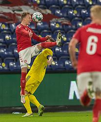 Mikkel Damsgaard (Danmark) under venskabskampen mellem Danmark og Sverige den 11. november 2020 på Brøndby Stadion (Foto: Claus Birch).