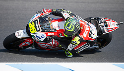 October 20, 2017 - Melbourne, Victoria, Australia - British rider Cal Crutchlow (#35) of LCR Honda in action during the second free practice session at the 2017 Australian MotoGP at Phillip Island, Australia. (Credit Image: © Theo Karanikos via ZUMA Wire)