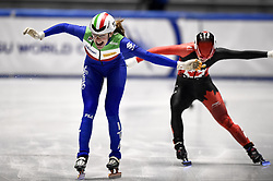 February 9, 2019 - Torino, Italia - Foto LaPresse/Nicolò Campo .9/02/2019 Torino (Italia) .Sport.ISU World Cup Short Track Torino - Ladies 500 meters Final A .Nella foto: Martina Valcepina vince..Photo LaPresse/Nicolò Campo .February 9, 2019 Turin (Italy) .Sport.ISU World Cup Short Track Turin - Ladies 500 meters Final A.In the picture: Martina Valcepina wins (Credit Image: © Lapresse via ZUMA Press)