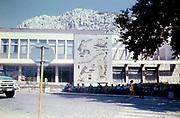 Archive photograph Cultural centre Paisius of Hilendar, town centre of Balchik, Bulgaria 1980s