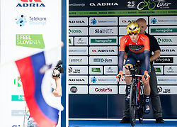 Matej Mohoric of Bahrain Merida prior to the 5th Time Trial Stage of 25th Tour de Slovenie 2018 cycling race between Trebnje and Novo mesto (25,5 km), on June 17, 2018 in  Slovenia. Photo by Vid Ponikvar / Sportida