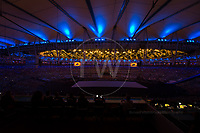 20160907 Copyright onEdition 2016©<br /> Free for editorial use image, please credit: onEdition<br /> <br /> ParalympicsGB, the opening ceremony of the 2016 Paralympic Games taking place in Rio De Janeiro.<br /> <br /> ParalympicsGB is the name for the Great Britain and Northern Ireland Paralympic Team that competes at the summer and winter Paralympic Games. The Team is selected and managed by the British Paralympic Association, in conjunction with the national governing bodies, and is made up of the best sportsmen and women who compete in the 22 summer and 4 winter sports on the Paralympic Programme.<br /> <br /> For additional Images please visit: http://www.w-w-i.com/paralympicsgb_2016/<br /> <br /> For more information please contact the press office via press@paralympics.org.uk or on +44 (0) 7717 587 055<br /> <br /> If you require a higher resolution image or you have any other onEdition photographic enquiries, please contact onEdition on 0845 900 2 900 or email info@onEdition.com<br /> This image is copyright onEdition 2016©.<br /> <br /> This image has been supplied by onEdition and must be credited onEdition. The author is asserting his full Moral rights in relation to the publication of this image. Rights for onward transmission of any image or file is not granted or implied. Changing or deleting Copyright information is illegal as specified in the Copyright, Design and Patents Act 1988. If you are in any way unsure of your right to publish this image please contact onEdition on 0845 900 2 900 or email info@onEdition.com