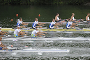 Lucerne, SWITZERLAND, EST M4X  move away from the start, of the third round of the  2009 FISA World Cup,  on the Rottsee regatta Course, Friday  10/07/2009 [Mandatory Credit Peter Spurrier/ Intersport Images].