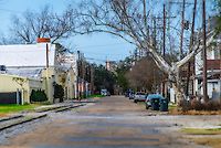NEW ORLEANS - CIRCA FEBRUARY 2014: View of Brooklyn Ave. in Algiers Point, a popular community within the city of New Orleans in Louisiana.