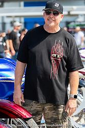 Paul Yaffe at his Baddest Bagger Show at Daytona International Speedway during Daytona Beach Bike Week, FL. USA. Friday, March 15, 2019. Photography ©2019 Michael Lichter.