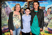 NO FEE PICTURES <br /> 19/4/15 Siun Ni Raghallaigh, excutive producer, Callum Maloney, age 11, who plays Finny and producer Moe Honan he Irish Premiere of Two by Two at the Savoy cinema in Dublin. Picture:Arthur Carron