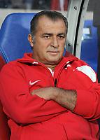 Fotball<br /> Frankrike v Tyrkia<br /> Foto: DPPI/Digitalsport<br /> NORWAY ONLY<br /> <br /> FOOTBALL - FRIENDLY GAMES 2008/2009 - FRANCE v TURKEY - 5/06/2009 <br /> <br /> FATHI TERIM (TURKEY COACH)