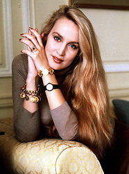 TOP MODEL JERRY HALL, THE GIRLFRIEND OF ROLLING STONES LEAD SINGER, MICK JAGGER, IN HER SUITE AT THE SAVOY HOTEL, LONDON.