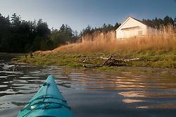 Approaching English Camp by Kayak, San Juan Island, Washington, US