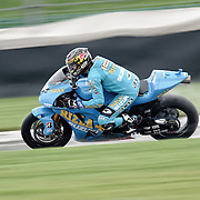 August 8, 2009, Chris Vermeulen practices during Free Practice 1 at the Red Bull Indianapolis Grand Prix.