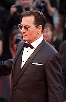 Actor Johnny Depp at the gala screening for the film Black Mass at the 72nd Venice Film Festival, Friday September 4th 2015, Venice Lido, Italy.
