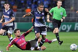 27.09.2011, Stade de Gerland, Lyon, FRA, UEFA CL, Gruppe D, Olympique Lyon (FRA) vs Dinamo Zagreb (CRO), im Bild Jorge Sammir Cruz Campos (10), Dejan Lovren (5) // during the UEFA Champions League game, group D, Olympique Lyon (FRA) vs Dinamo Zagreb (CRO) at de Gerland stadium in Lyon, France on 2011/09/27. EXPA Pictures © 2011, PhotoCredit: EXPA/ nph/ Pixsell +++++ ATTENTION - OUT OF GERMANY/(GER), CROATIA/(CRO), BELGIAN/(BEL) +++++