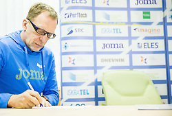 Srdjan Djordjevic during press conference when Slovenian athletes and their coaches sign contracts with Athletic federation of Slovenia for year 2016, on February 25, 2016 in AZS, Ljubljana, Slovenia. Photo by Vid Ponikvar / Sportida
