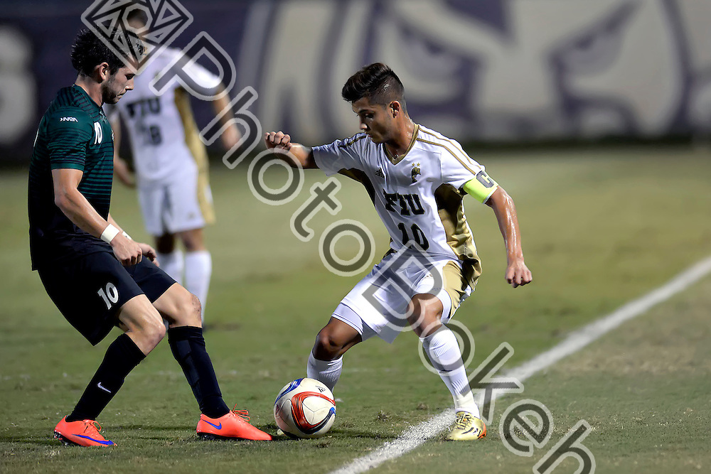 2015 October 03 - FIU's Daniel Gonzalez (10). <br /> Florida International University fell to Charlotte, 0-1, at the FIU Soccer Complex, Miami, Florida. (Photo by: Alex J. Hernandez / photobokeh.com) This image is copyright by PhotoBokeh.com and may not be reproduced or retransmitted without express written consent of PhotoBokeh.com. ©2015 PhotoBokeh.com - All Rights Reserved