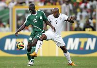 Fotball<br /> Afrika mesterskapet 2008<br /> Foto: DPPI/Digitalsport<br /> NORWAY ONLY<br /> <br /> FOOTBALL - AFRICAN CUP OF NATIONS 2008 - 1/4 FINAL - 3/02/2008 - GHANA v NIGERIA - GEROGE OLOFINJANA (NIG) / MANUEL AGOGO (GHA)