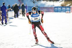 Dominik Landertinger (AUT)  during Men 15 km Mass Start at day 4 of IBU Biathlon World Cup 2015/16 Pokljuka, on December 20, 2015 in Rudno polje, Pokljuka, Slovenia. Photo by Vid Ponikvar / Sportida