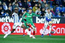 November 23, 2018 - Leganes, MADRID, SPAIN - Jony of Alaves and Omeruo of Leganes during the Spanish Championship La Liga football match between CD Leganes and Deportivo Alaves on November 23th, 2018 at Estadio de Butarque in Leganes, Madrid, Spain. (Credit Image: © AFP7 via ZUMA Wire)