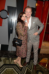 GARY & LAUREN KEMP at a private performance by Frances Ruffelle entitled 'Paris Original' at The Crazy Coqs, Brasserie Zedel, 20 Sherwood Street, London on 8th October 2013.