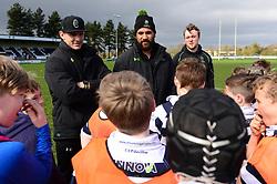Cooper Vuna, Jamie Shillcock and Ryan Mills deliver coaching sessions at Stourbridge RFC  - Mandatory by-line: Dougie Allward/JMP - 19/03/2017 - Rugby - Stourbridge RFC - Stourbridge, England - Worcester Warriors Community Rugby