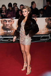 Tallia Storm arrives at the I am Bolt world premiere at the Odeon Leicester Square, London.  Picture date: Monday 28th November 2016. Photo credit should read: © DavidJensen/EMPICS Entertainment
