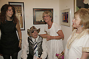 KEZZIE MOYNIHAN, GEORGE MELLY, DIANA MELLY AND SUSAN CROSLAND. Celebrating George Melly at 80: Aspects of his Collection. The Mayor Gallery. Cork St. London. 17 August 2006. ONE TIME USE ONLY - DO NOT ARCHIVE  © Copyright Photograph by Dafydd Jones 66 Stockwell Park Rd. London SW9 0DA Tel 020 7733 0108 www.dafjones.com