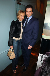 LADY ALEXANDRA SPENCER-CHURCHILL and MR DAVID PEACOCK at a party to celebrate the publication of 'E is for Eating' by Tom Parker Bowles held at Kensington Place, 201 Kensington Church Street, London W8 on 3rd November 2004.<br /><br />NON EXCLUSIVE - WORLD RIGHTS