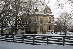 01 February 2008: David Davis Mansion - originally owned by David Davis a United States Supreme Court Justice and friend, confidant, and political ally of President Abraham Lincoln, Bloomington IL