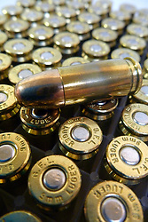 12 July 2012. Southern Louisiana,  USA. .Firearms in America. Boxes of 9mm full metal jacket bullets..Photo; Charlie Varley.