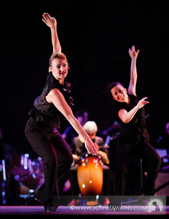 """Chicago Tap Theatre's production of Totally Tapular at the Athenaeum Theater in Chicago....""""Flying Turtles"""".Dancers: Kirsten William, Jamie Salas.Choreography by: Brenda Bufalino"""
