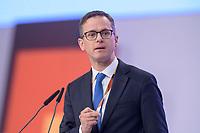 22 NOV 2019, LEIPZIG/GERMANY:<br /> Carsten Linnemann, MdB, CDU, Vorsitzender der Mittelstands- und Wirtschaftsunion der CDU/CSU und Stellvertretender Vorsitzender der CDU/CSU-Bundestagsfraktion. haelt eine Rede, CDU Bundesparteitag, CCL Leipzig<br /> IMAGE: 20191122-01-189<br /> KEYWORDS: Parteitag, party congress