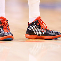 11 May 2014: Close view of  Los Angeles Clippers guard Jamal Crawford (11) shoes during the Los Angeles Clippers 101-99 victory over the Oklahoma City Thunder, during Game Four of the Western Conference Semifinals of the NBA Playoffs, at the Staples Center, Los Angeles, California, USA.