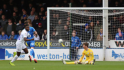Conor O'Malley of Peterborough United sits on the floor dejected after conceding the opening goal - Mandatory by-line: Joe Dent/JMP - 16/03/2019 - FOOTBALL - ABAX Stadium - Peterborough, England - Peterborough United v Coventry City - Sky Bet League One