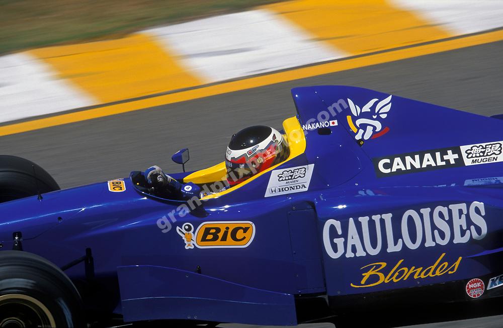 Shinji Nakano (Prost Mugen-Honda) in the 1997 Brazilian Grand Prix in Interlagos, Sao Paulo. Photo: Grand Prix Photo