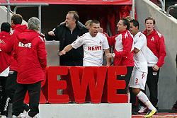 16.10.2011,  Rhein Energie Stadion, Koeln, GER, 1.FBL, 1. FC Koeln vs Hannover 96 ,im Bild.Torjubel / Jubel  nach dem 1:0 durch Lukas Podolski (Koeln #10)..// during the 1.FBL, 1. FC Koeln vs Hannover 96 on 2011/10/16, Rhein-Energie Stadion, Köln, Germany. EXPA Pictures © 2011, PhotoCredit: EXPA/ nph/  Mueller *** Local Caption ***       ****** out of GER / CRO  / BEL ******