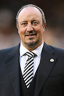 Rafa Benitez, the Newcastle United manager looks on before k/o. Skybet EFL championship match, Fulham v Newcastle Utd at Craven Cottage in Fulham, London on Friday 5th August 2016.<br /> pic by John Patrick Fletcher, Andrew Orchard sports photography.