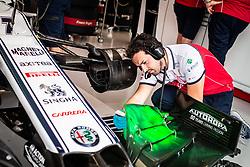 September 20, 2019, Singapore, Singapore: Motorsports: FIA Formula One World Championship 2019, Grand Prix of Singapore, .Mechanic of Alfa Romeo Racing  (Credit Image: © Hoch Zwei via ZUMA Wire)