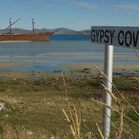 The 'Lady Elizabeth,' a British 3-masted barque that hit a rock near Port Stanley in the  Falkland Islands, never sailed again after 1913 and remains an historic part of the view from the town.