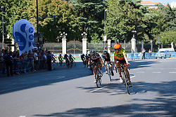 Romy Kasper & Juliette Labous lead the chase at Madrid Challenge by la Vuelta 2017 - a 87 km road race on September 10, 2017, in Madrid, Spain. (Photo by Sean Robinson/Velofocus.com)