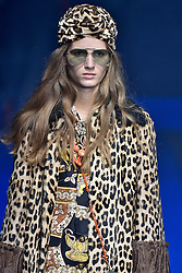 Model Kristina Abibulaieva walks on the runway during the Gucci Fashion Show during Milan Fashion Week Spring Summer 2018 held in Milan, Italy on September 20, 2017. (Photo by Jonas Gustavsson/Sipa USA)