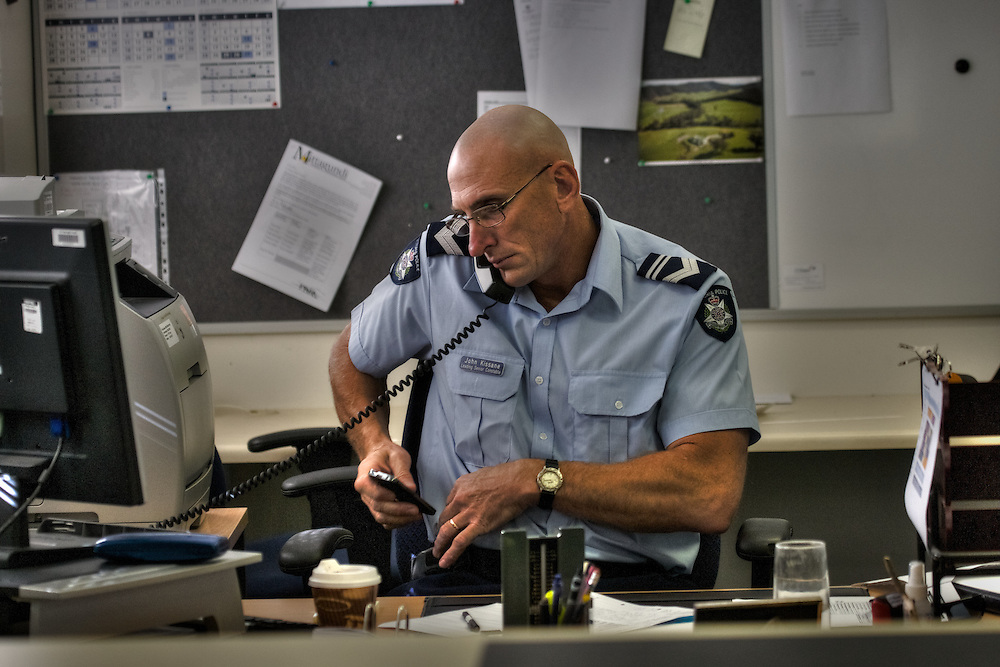 Mitta Mitta, one policeman town. Following the working life of Leading Senior Constable John Kissane. Pic By Craig Sillitoe CSZ/The Sunday Age.27/03/2012 This photograph can be used for non commercial uses with attribution. Credit: Craig Sillitoe Photography / http://www.csillitoe.com<br /> <br /> It is protected under the Creative Commons Attribution-NonCommercial-ShareAlike 4.0 International License. To view a copy of this license, visit http://creativecommons.org/licenses/by-nc-sa/4.0/.