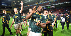 Cape Town-180623- Springbok captain Siya Kolisi greets fans after their 25-10 loss to England in the last game of the Castle Lager Test  at Newlands Stadium photographer:Phando Jikelo/African News Agency/ANA
