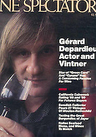 Gerard Depardieu, on the cover of The Wine Spectator, as winemaker