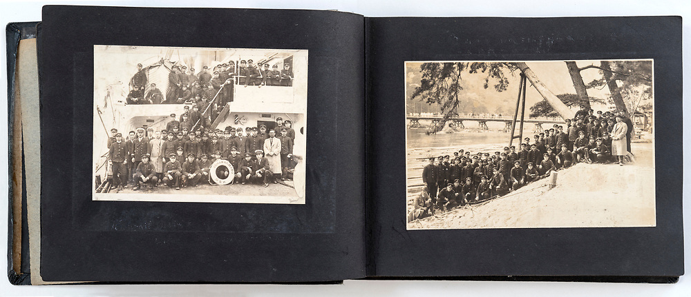 photo album with fading images Japan ca late 1940s