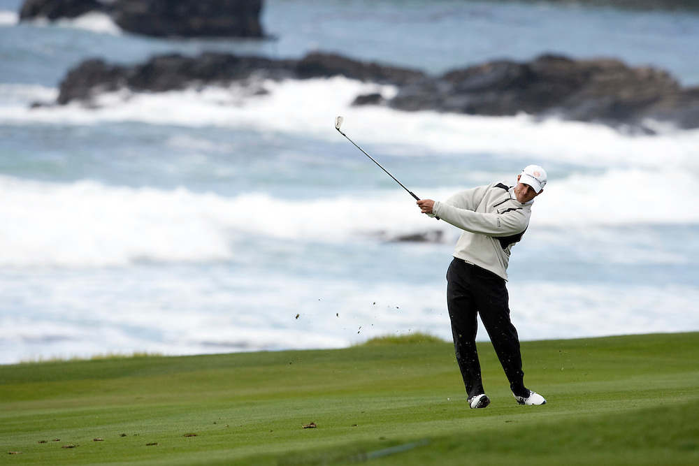 Mike Weir plays the 2009 AT&T Pebble Beach Pro Am at the Pebble Beach Golf Links.