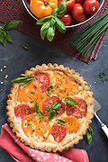 Tomato Pie by Rodney Bedsole, a food photographer based in Nashville and New York City.